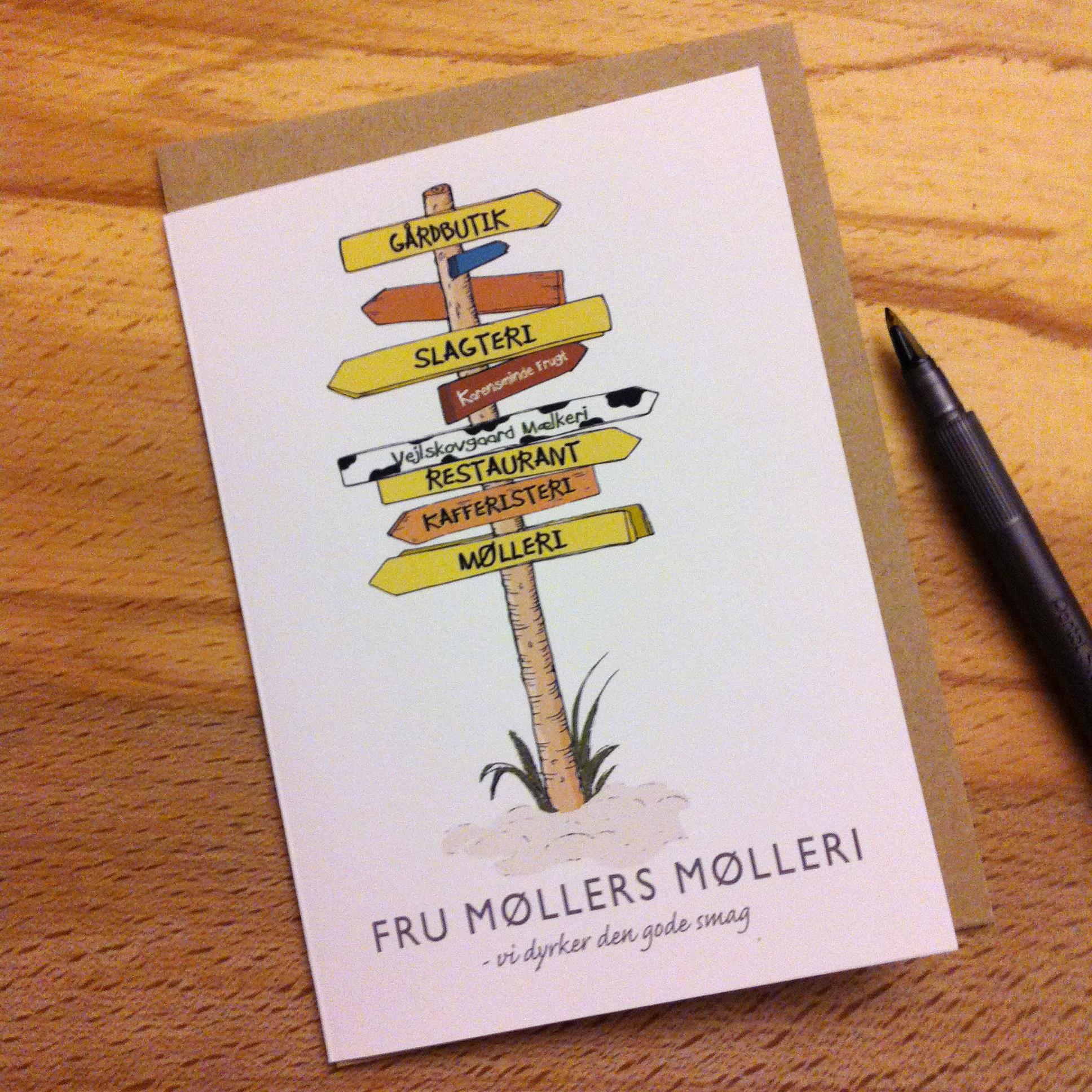 Kort Vejviser Fru Mollers Molleri